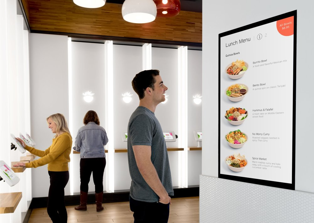Digital Signage - Engage customers with dynamic digital menu and marketing boardsAll digital content can be configured and deployed remotely, instantly updating in-storeReduces turnaround times to minutes instead of days or weeks, and eliminates the costs of printing and shipping marketing materials