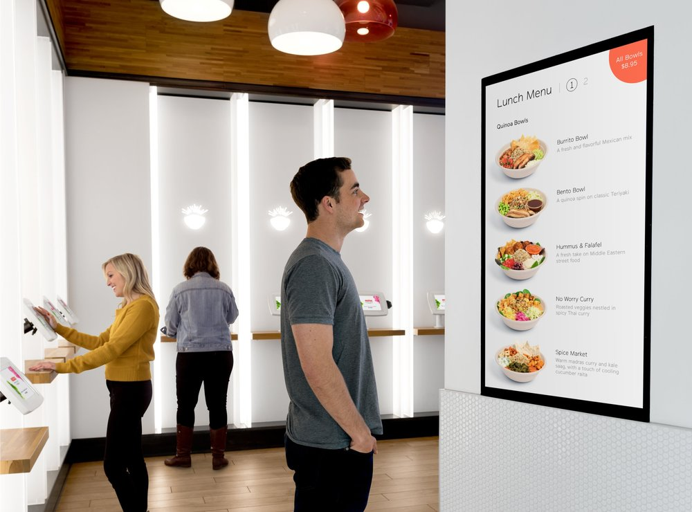 Digital Signage - Engage customers with dynamic digital menu and marketing boardsAll digital content can be configured and deployed remotely, instantly updating in-storeReduces turnaround times to minutes instead of days or weeks, and eliminates the costs of printing and shipping printed marketing materials