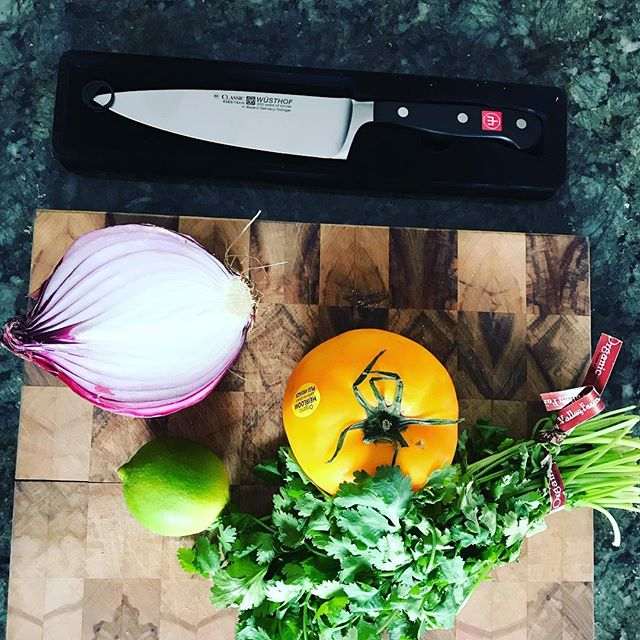 New knife for my birthday! I can cut all the vegetables, as thin as you want! No problem! Thanks @nickwiecien! #birthdays #kitchengadgets #knife