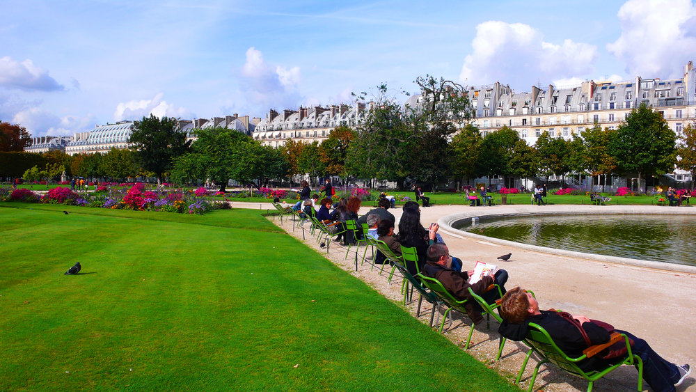 Tuileries Gardens - A most agreeable place to unwind from stresses,  engage in