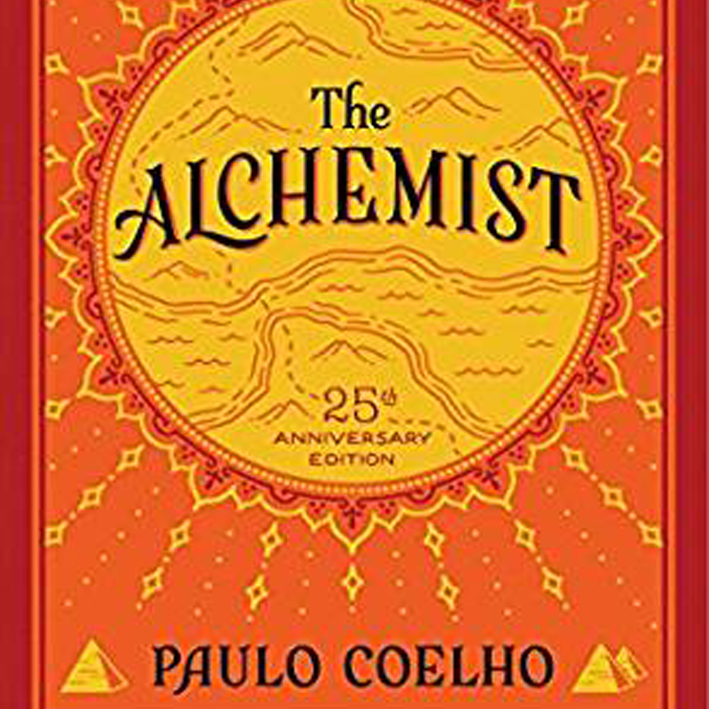 The Alchemist   I always keep extra copies of  The Alchemist by Paulo Coelho . I've givien it out a lot. I read it every few years. It should be a staple. Read it at the beginning of your journey and again at the end. It is romance, spirit, questions and answers. It's magic.