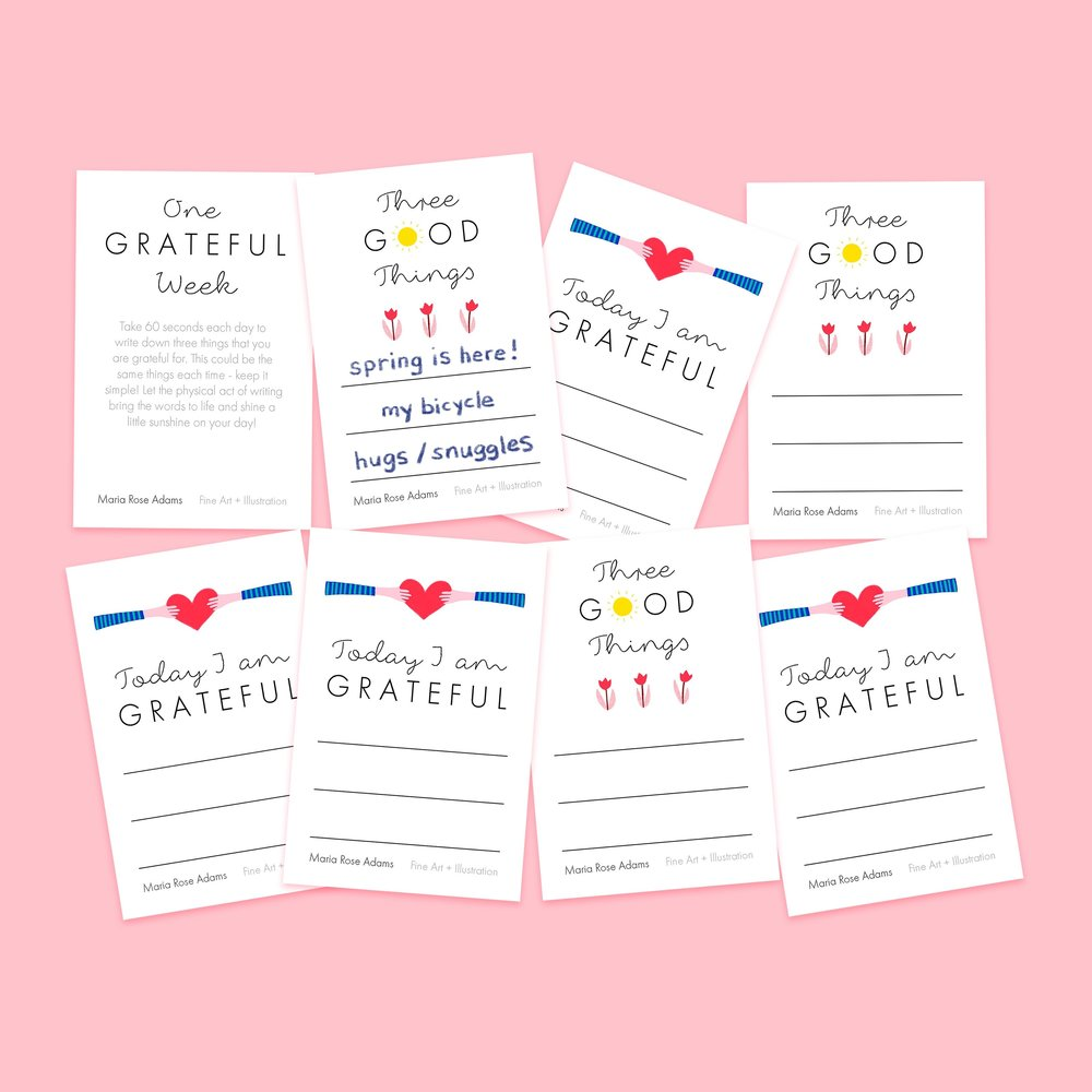 Maria Rose Adams - Gratitude Notecards