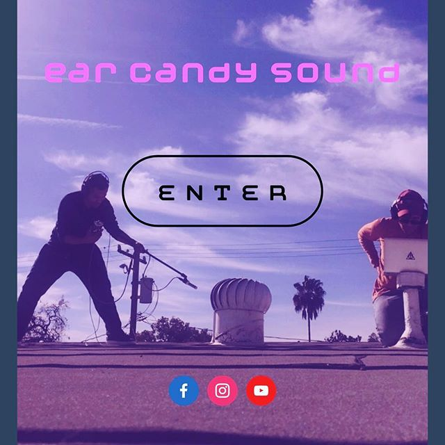 The #newwebsite is up and HOLY SOUNDBITES it's sick! Sick like u get when u taste too much of our #sweet sweet sound. #earcandysound hittin' your #sweetspot in 2018. #sounddesign #soundmix #postproduction #foley #sweetening #independentfilm