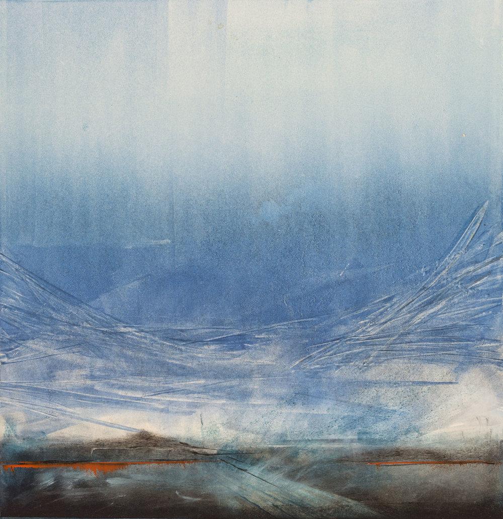 Maryann Kirkby,  On the Road , monotype print.