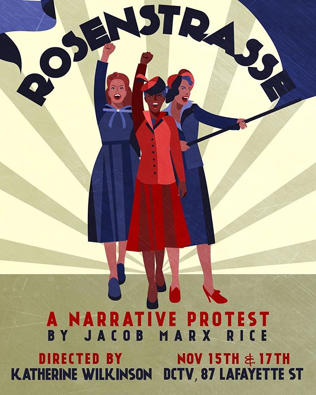 I VOTED and now I'm off to rehearse a workshop of Jacob Marx Rice's brilliant work about women raising their voices and protesting for justice in WWII Germany. GET LOUD TODAY EVERYBODY! @jousttheatreco #newplay #nyc #theatre