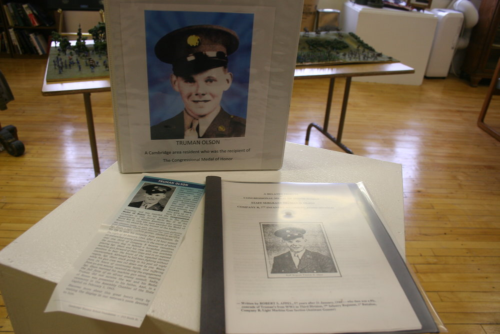 Cambridge veteran Truman Olson was awarded the Medal of Honor posthumously during WWII.