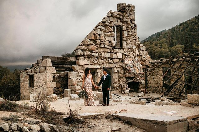 These two were like Phoenix's rising amongst the ruins of this stone house 😍