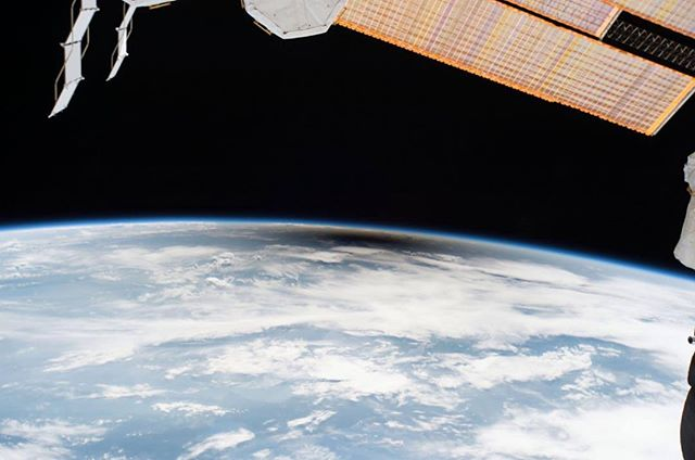 This is the Solar Eclipse seen from the International Space Station, on 21 August 2017. Inside that black hole over Oregon, we were shooting Souls of Totality! It's amazing to step back for a moment and put it all into perspective!! #soulsoftotality