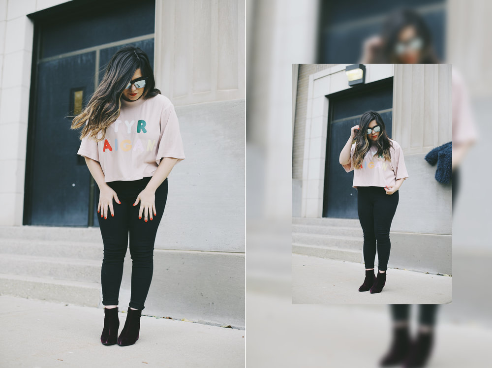 Eggie Try Again Cropped Tee