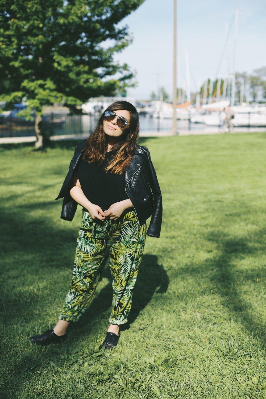 palm leaf pants forever 21