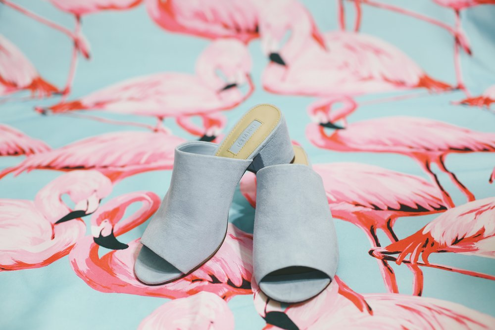 Forever 21 Faux Suede Mules in Blue