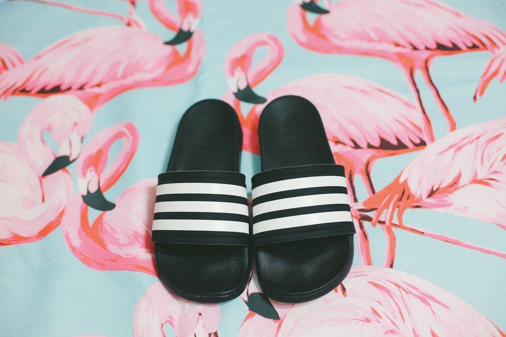 Adidas 'Adilette' Cloudfoam Ultra Slide Stripes