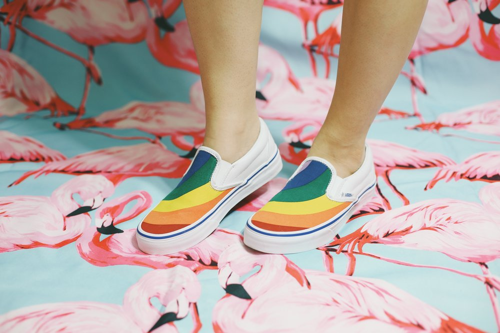 Vans Classic rainbow slip-ons
