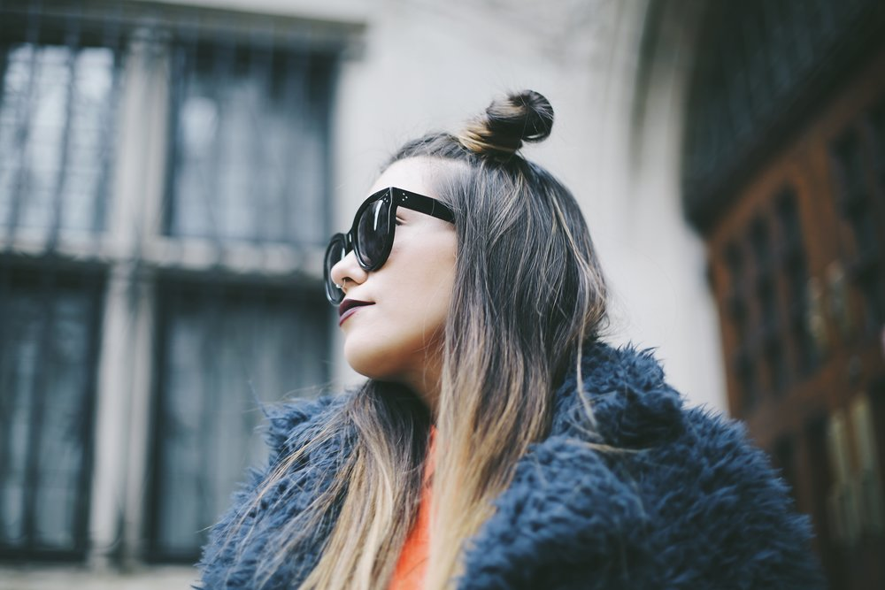 space buns hair style