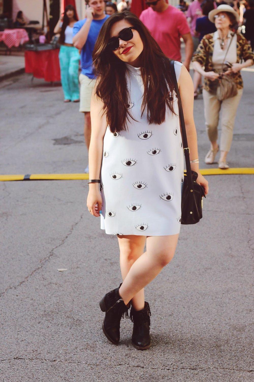 zara eye print dress
