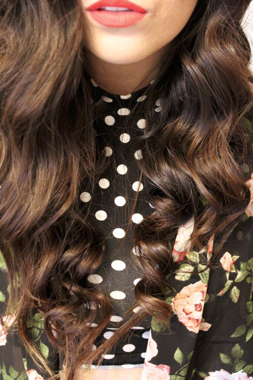 wavy/curly hair