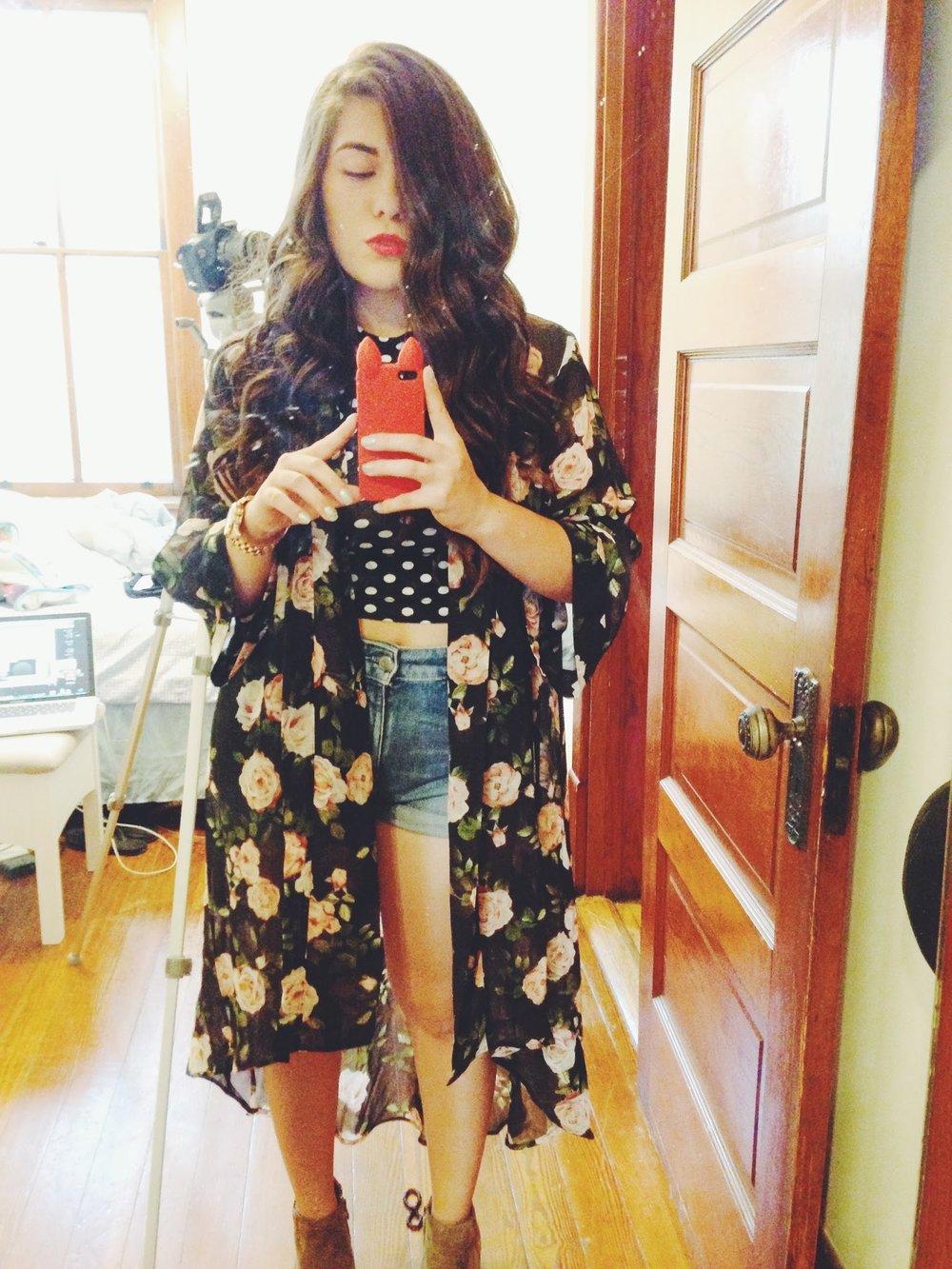 forever 21 floral kimono
