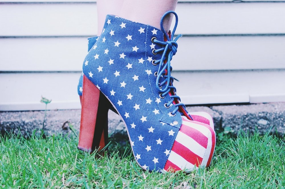 Jeffrey Campbell american flag lolita shoes