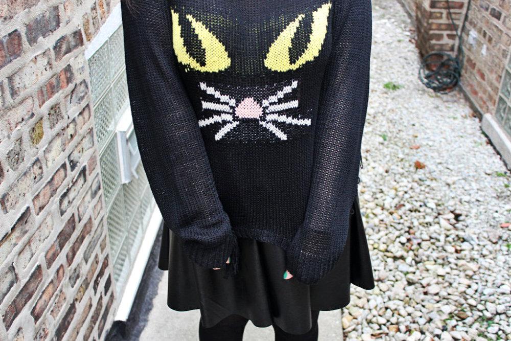unif cat fringe sweater