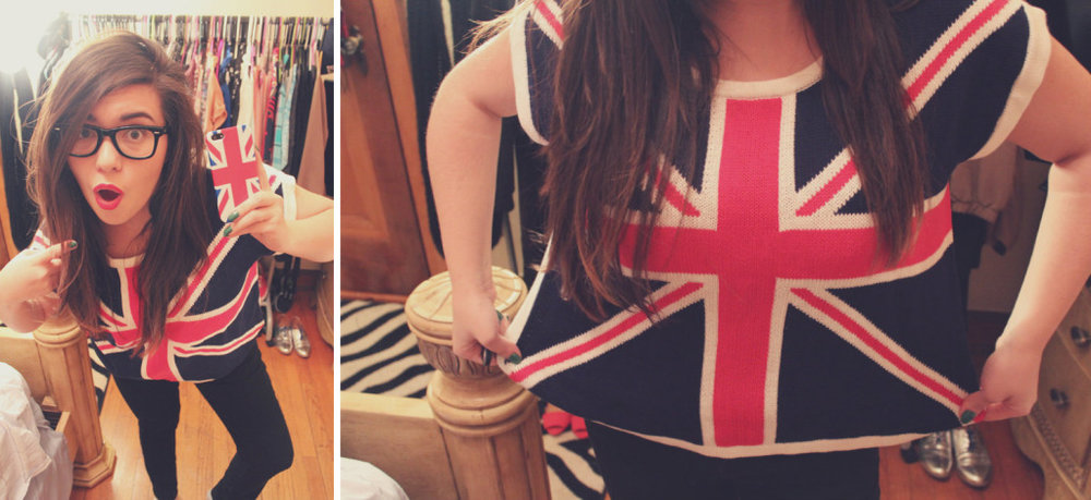 Union Jack sweater by Forever 21
