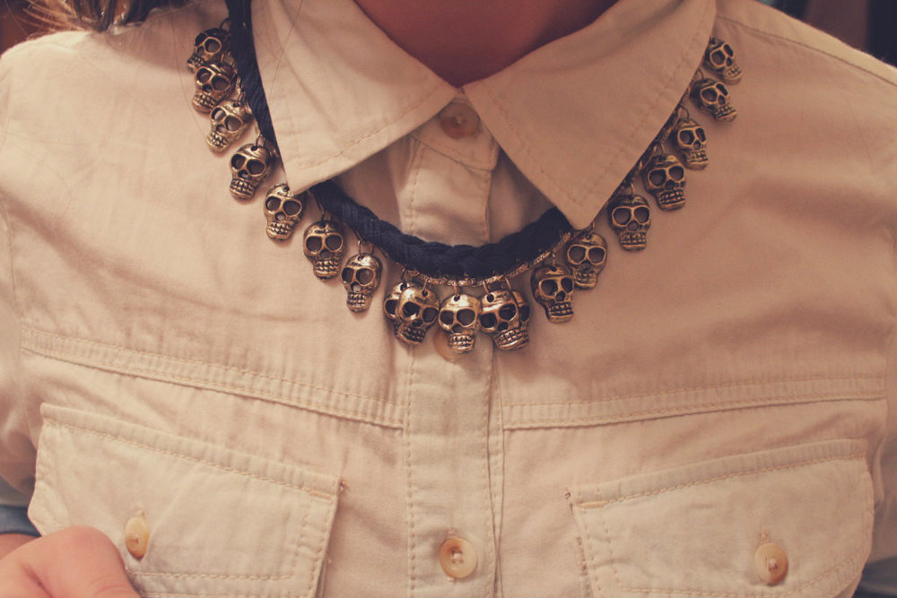 Skull necklace by Zara