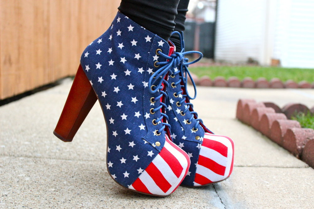 jeffrey campbell american flag lita shoe