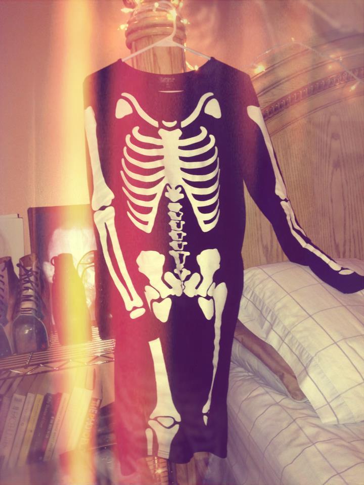 topshop body con skeleton dress