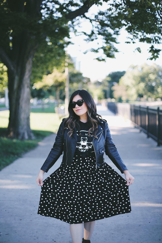 asos petite polka dot skirt