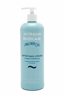 Now known as After Wax Lotion, this classic product offers an intensive soothing, moisturising and cooling effect after any wax treatment.  Now paraben free, but still packed with Tea Tree Oil to help reduce ingrown hairs and prevent bacteria forming in the pores, it's also rich in emollients such as gylcerin and coconut oil.  Used and trusted for over 20 years by therapists who understand and encourage skin hygiene after waxing.  More absorbent, cooling and moisturising than ever, from Australian Bodycare - the pioneers of Tea Tree Oil-based products in the UK.