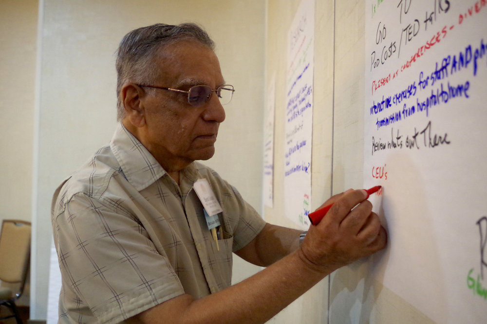 Dr. Syed Sattar brainstorming initiative projects