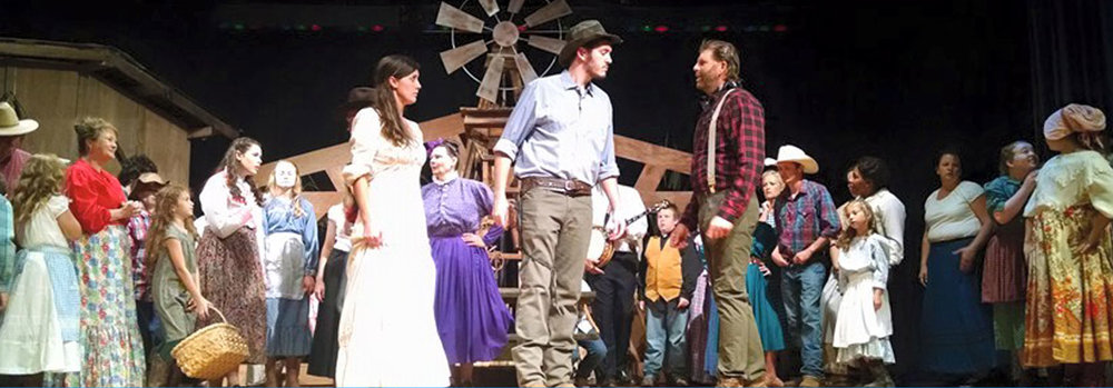 "Scene from season 8 musical  ""Oklahoma"""