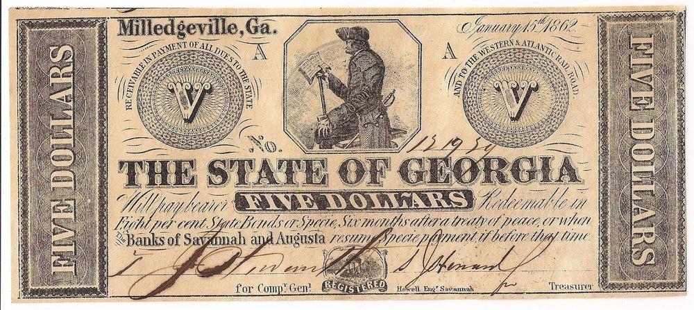 1862 $5 - Type 1 (Varieties)