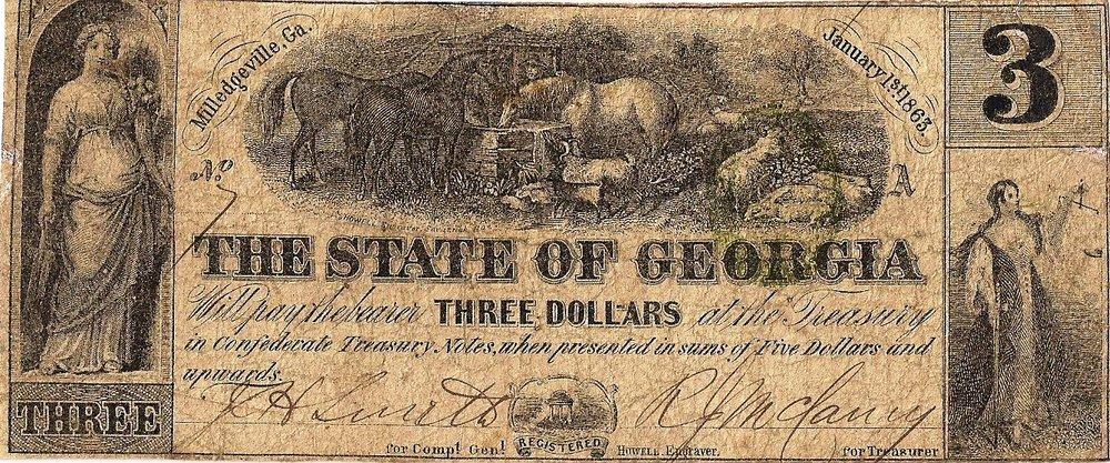 1863 $3 - Typr 17