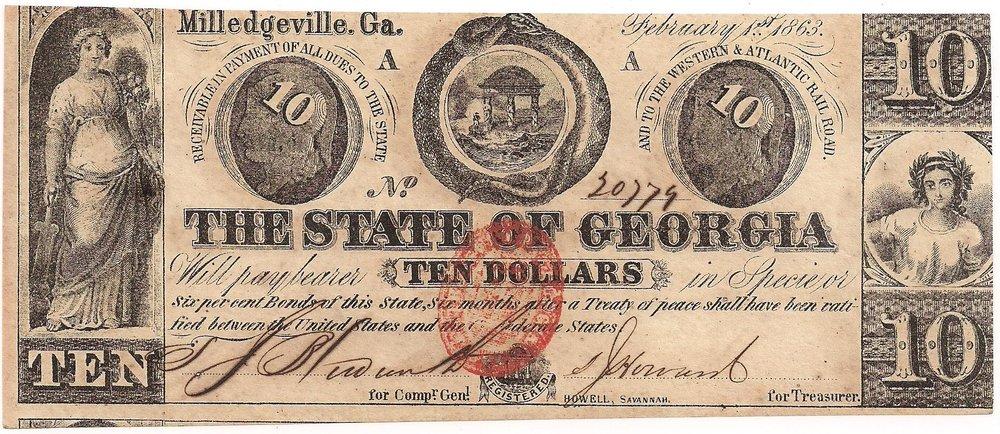 1863 $10 - Type 19