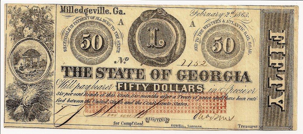 1863 $50 - Type 20