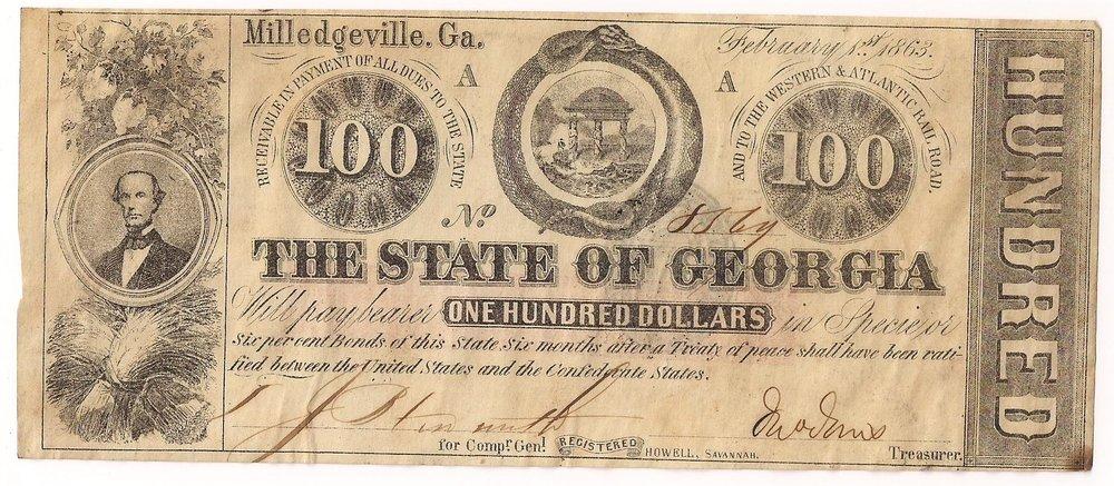 1863 $100 - Type 21