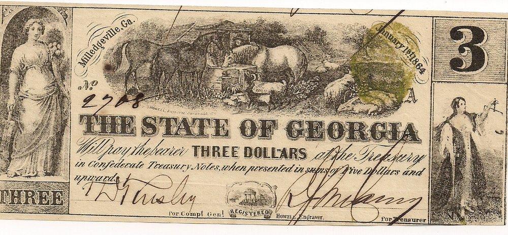 1864 $3 - Type 25