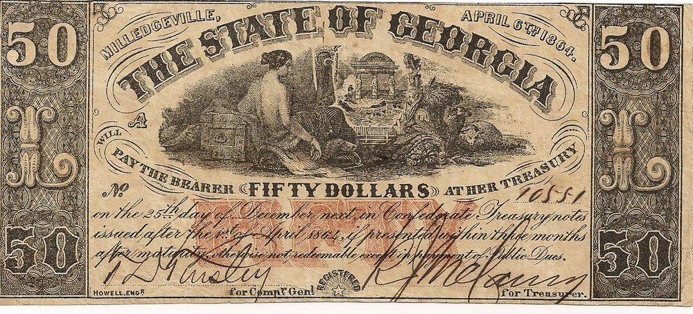 1864 $50 - Type 31
