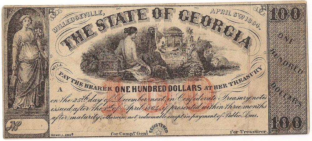 1864 $100 - Type 32