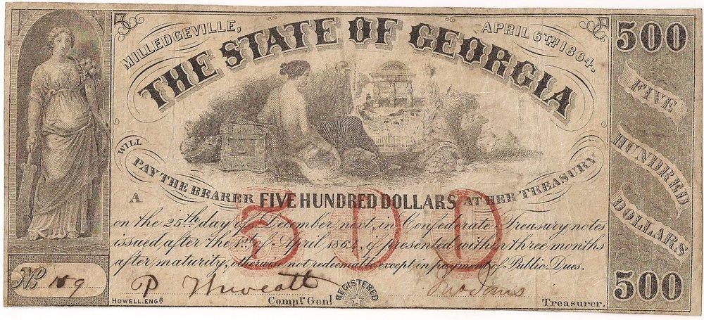 1864 $500 - Type 33