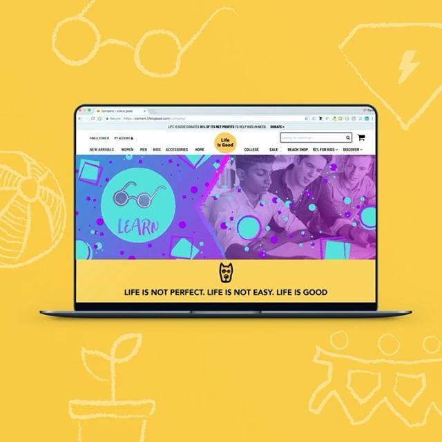 Diseñamos estos banners para la web de @lifeisgood específicamente para la sección de su fundación que apoya donando el 10% de sus ganancias a causas que apoyan a niños.  El enfoque consiste en relacionar visualmente a los beneficiarios con quienes reciben la ayuda. A partir de ello diseñamos los iconos y se propusieron las gamas cromáticas en armonía con la tipografía para lograr una imagen profesional y dinámica. • • • #design #diseño #diseñografico #graphicdesign #designinspiration #webdesign #lifeisgood #ui #ux #foundation #banner #icon #branding #visualinspiration #designdaily #diseño #Pyra #PyraCo