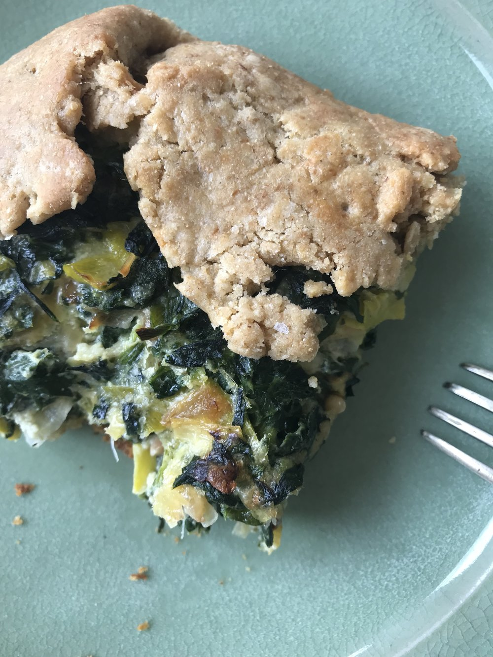 Savory greens pie