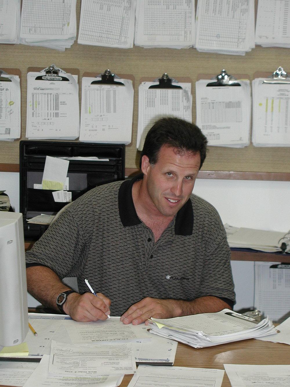 Chuck hard at work.JPG