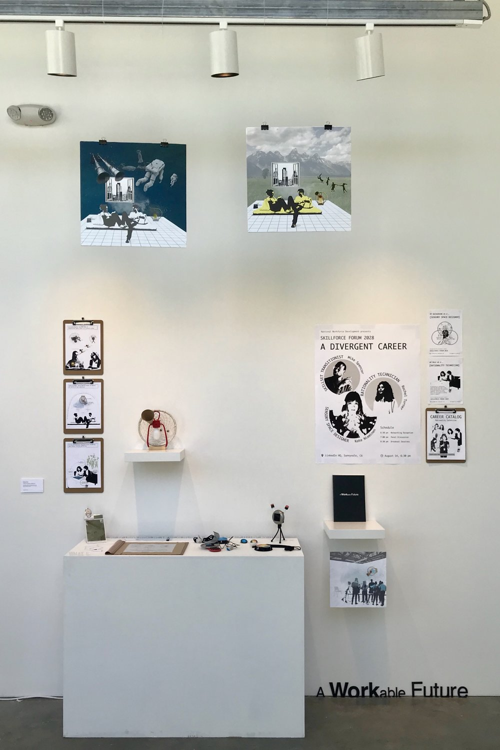 A Workable Future  exhibited at CCA MFA Thesis Show 2018