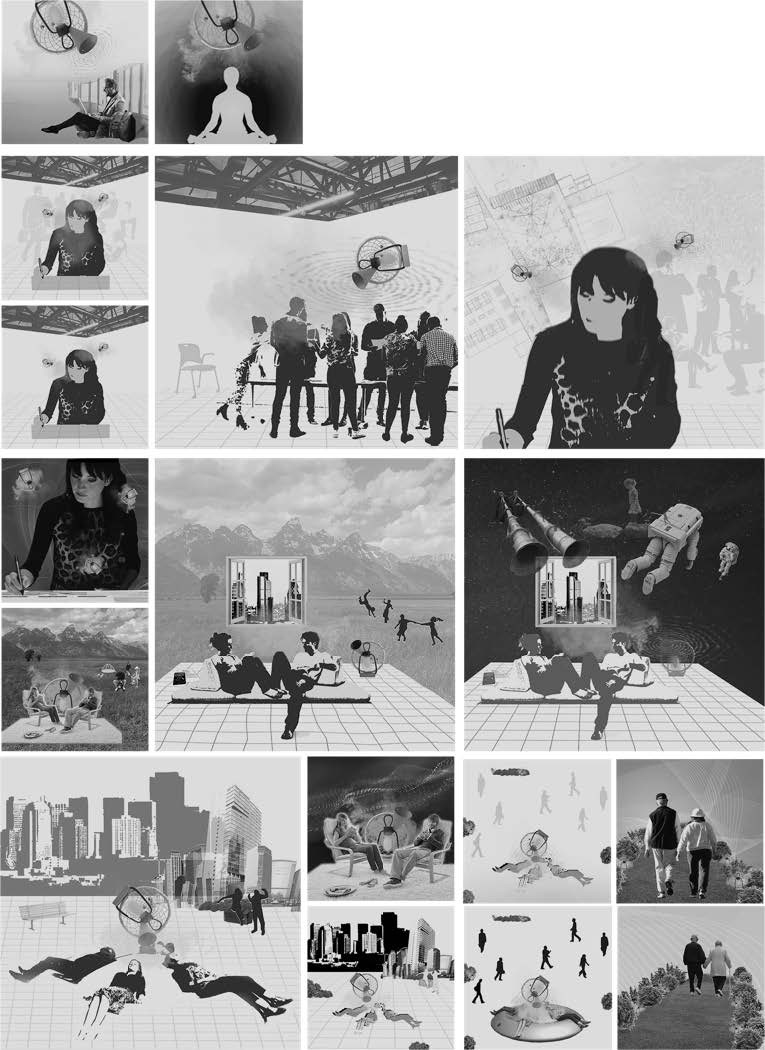 Collage experiments of mood-tuning environments