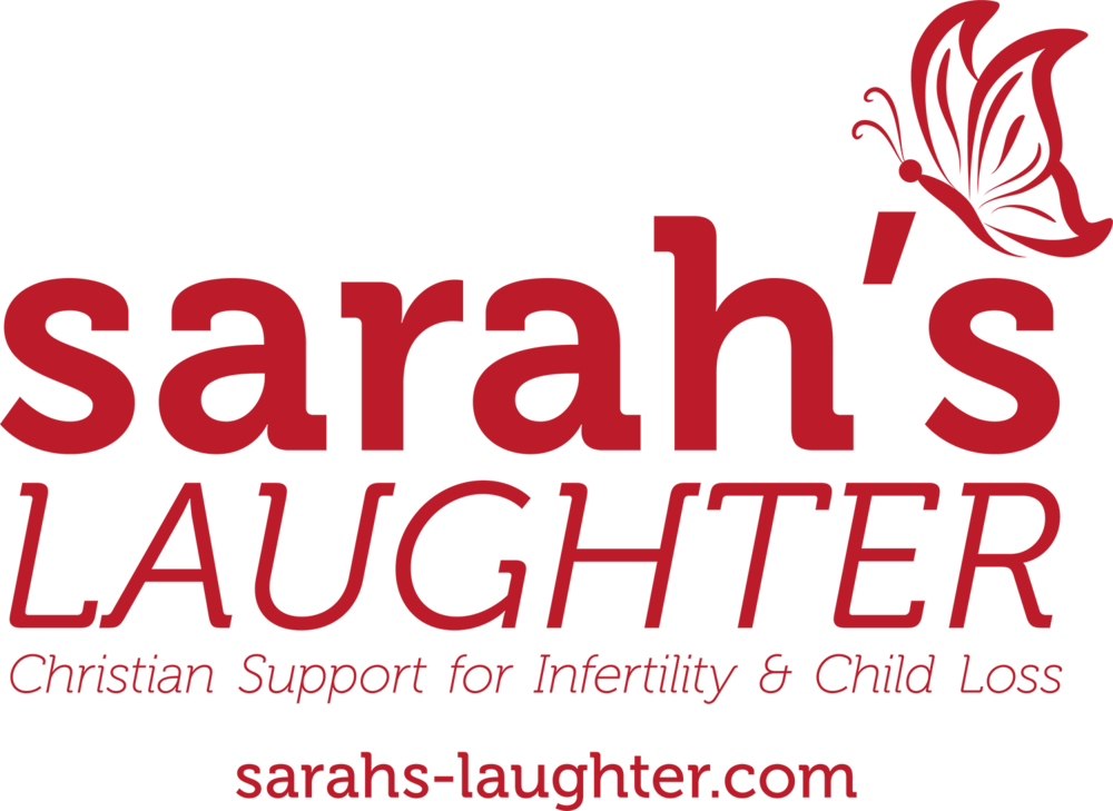 Sarahs Laughter logo 2017 - tagline and url RED BC1B29 RGB copy.png