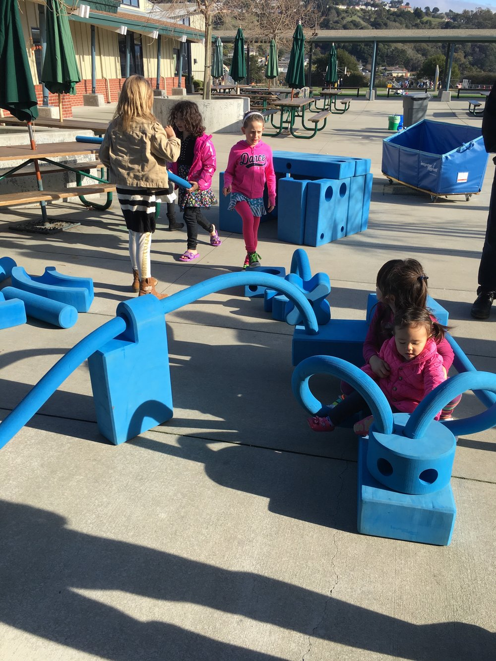 Playing on the playground at Playgroup !