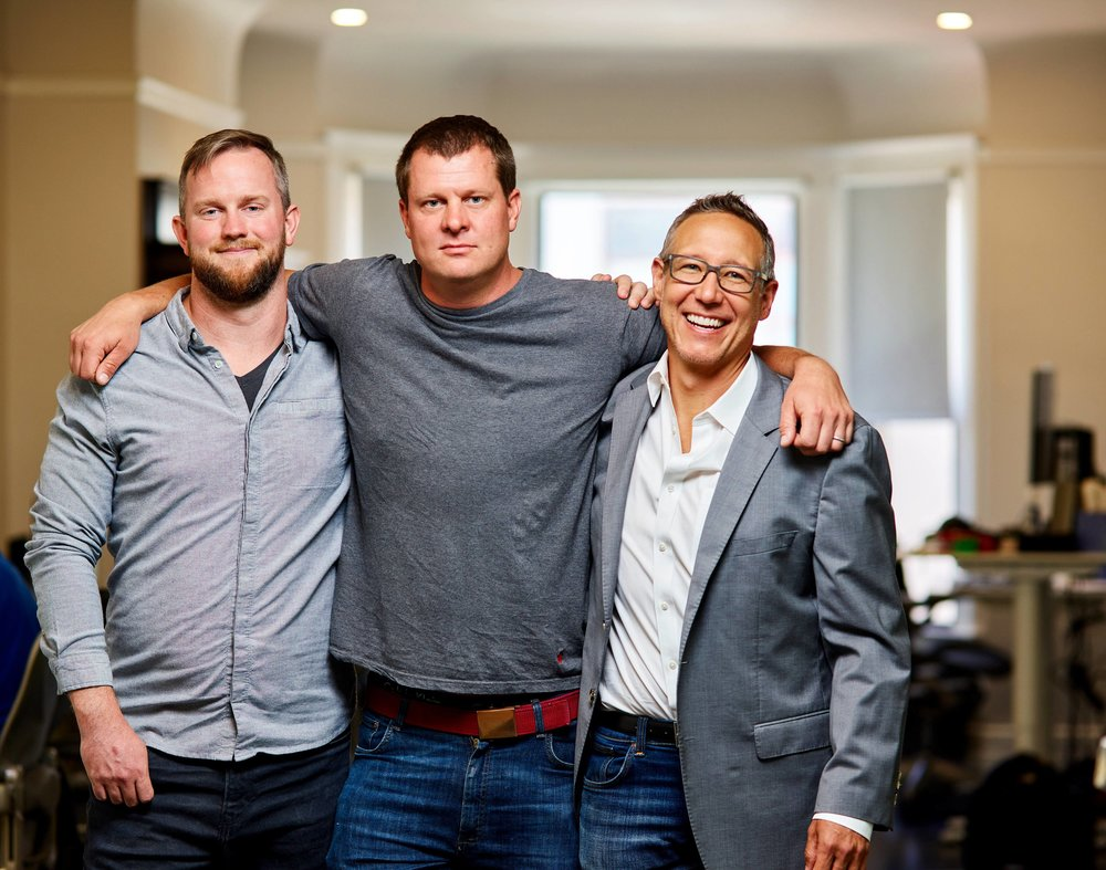 (L to R) Founders Cory Johnson, Niko Vuori & Justin Cooper