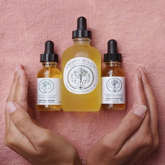 Vata-balancing oils from  Sundara Holistic