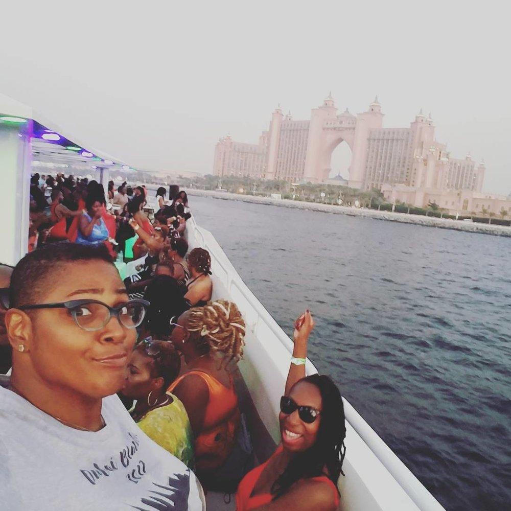 "Kenna living her best ""Pusha Kee"" life in Dubai."